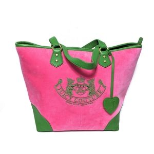 {JUICY COUTURE} Pink Velvet Leather Scotty Dog Bag